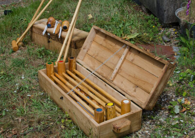 Lawn Croquet Set by Martin Symes Wood Turner in Yarcombe