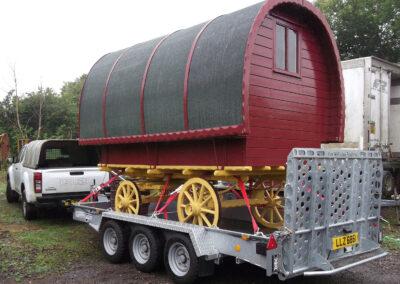 Red and Yellow Handbuilt Gypsy Caravan