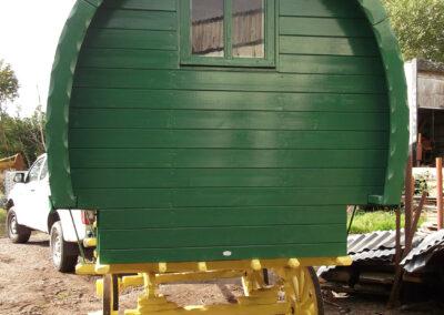Green Handmade Gypsy Caravan