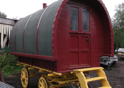 Painted portable Gypsy Caravan - Martin Symes