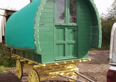 Handbuilt Handmade Wooden Gypsy Caravan by Martin Symes