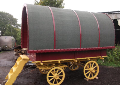 Handbuilt Traditional Wooden Gypsy Caravan by Martin Symes